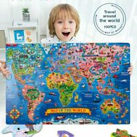 Jigsaw Puzzle Magnetic World Map Shape Jigsaw 100Pcs Puzzles For Entertainment