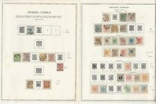 Sweden Collection 1855 to 1952 on 24 Minkus Specialty Pages, Huge Cat Value