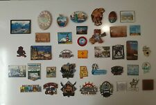 Vintage Lot of 40 Souvenir State Travel Rubber Refrigerator Magnets