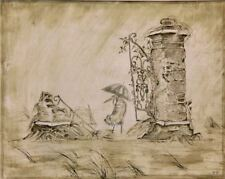 The Heron & the Crane Y.Norstein's/Norshteyn animation Signed Giclée (Rain)