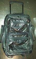 "New listing Travel Roller Backpack Black Multi-Pocket Extendable Handle 19.5"" x 17"" x 7""."