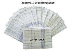 24 Stück Geschirrtücher Geschirrtuch Handtuch blau-weiß Putztücher Gastro NEU