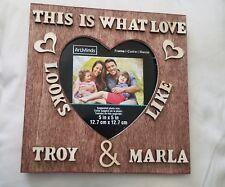 New Christmas Handmade Custom Couple Personalized Wedding Gift Wooden Name Frame