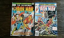 Iron Man Comics # 66 & # 98 - 1973 Thor Sunfire Avengers - Vintage - Cool
