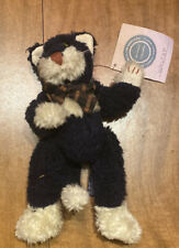 Boyds J B Bean Series Walter Plush Kitty Black Beige Tuxedo Cat