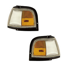 87-96 Oldsmobile Cutlass Ciera Driver & Passenger Side Marker Lights Pair Set