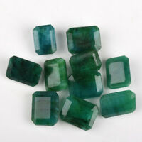 100 Cts. Fine 10 Pieces Best Deal Zambian Natural Green Emerald Loose Gems Lot