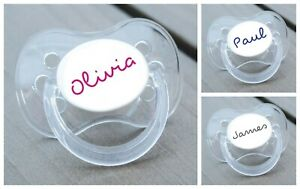 PERSONALISED DUMMY PACIFIER SOOTHER, ALL TEATS,SIZES & COLOURS, LOVE ISLAND