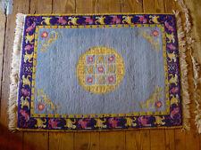 "Estate Vintage Asian wool/wool warm/soft Color Rug 49"" x 36"""