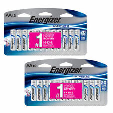 24 x Energizer Ultimate Lithium AA Batteries (12-Pack x 2) L91SBP-12 Exp 2037