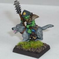 Goblin Wolfrider with mace Warhammer Fantasy Armies 28mm Unpainted Wargames