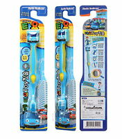 3 ea X ToothBrushes Little Bus TAYO character/Toy/Anti Bacterial/TV animation