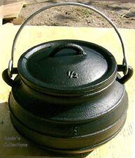Cast iron Dutch oven #1 Flat bottom Bean pot Cowboy Camp Outdoor Wilderness
