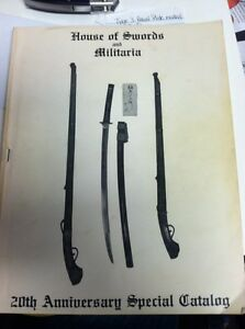 House Of Swords And Militaria 20th Anniversary Catalogue