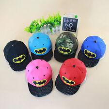 Summer Toddler Kid Superhero Batman Cartoon Baseball Peak Hats Sport Hip Pop Cap