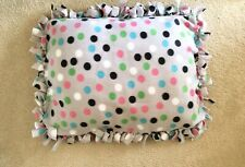 Fleece Dog Bed Gray Polka Dot Crate Bed Pet Bedding Crate Bedding Puppy Bed