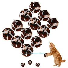 12Pcs Pet Cat Kitten Base Ball Interactive Toys Play Chewing Chase Scratch Toy
