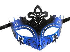 Sexy Black Blue Laser Cut Mardi Gras Masquerade Mask Dance