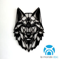 Geometric Wolf Head Wall Art Hanging Decoration Origami Style - Pick Your Colour