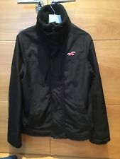 Men's Black Hollister All Weather Jacket, Great Condition,Fleece Lined, Small
