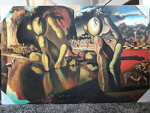 The Metamorphosis of Narcissus by Dali. Oil reproduction. Canvas. 81x53 cm