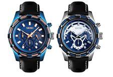 Skmei Mens Quartz Leather Strap Fashion Formal Wristwatch 30m Waterproof Watch