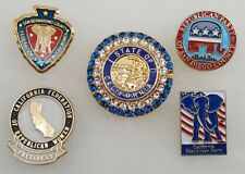 California Republican Campaign Jewelry & Pins Souvenir Group