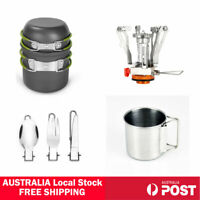 Outdoor Portable Hiking Camping Cooking Gas Stove Burner Pots Bowl Cookware 🇦🇺