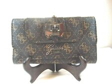 """Genuine  Guess Envelope wallet """"CONFIDENTIAL LOGO"""" in BROWN Free USA Shipping"""