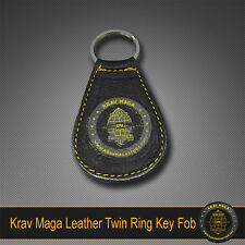 Krav Maga Genuine Leather Car Fob Keyring