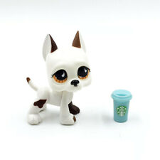 Littlest Pet Shop toys LPS Great Dane #750 white dog with Accessories