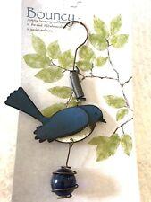 Bluebird Bird Bouncy Metal & Glass Garden Decor 3D By Sunset Vista Well Made!