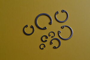 STAINLESS STEEL INTERNAL CIRCLIPS CIRCLIP VARIOUS SIZES 8mm - 25mm PACK OF 8