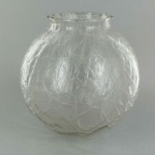 "6"" Diameter ~  CLEAR CRACKLE ~  Glass Lamp Shade ~ 3 1/4"" Fitter ~ #GG39"