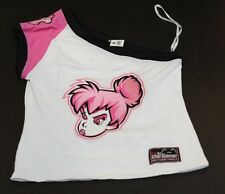 Disney Angry Tinker Bell Ladies Junior Large Football Jersey Blouse Pajama Nwt