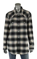Women's Ralph Lauren Purple Label Black Western Flannel Shirt 12 New $890