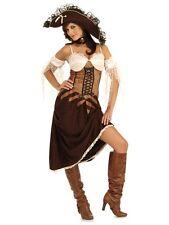 Gr. S Piratin Seeräuber Pirat Damen Piratenbraut Kostüm braun Pirat Kleid  55957