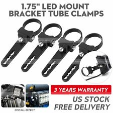 4X 1.75'' Bull Bar Roll Cage Tube Mount Bracket Clamps LED Work Light Offroad