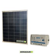 Kit Starter Pannello Solare Fotovoltaico 80W 12V  Regolatore di carica 10A LS102