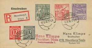 SBZ 1946 Wiederaufbau-Satz MiF m. All. Besetzung, portogerecht dabei 2 ABARTEN!!