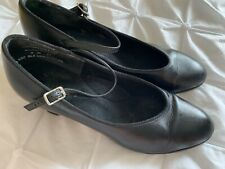 Black Genuine Leather Capezio Character Shoes - 6