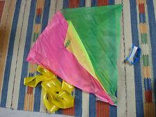Kinderdrachen Neon Farben mit Schleifenschwanz Flugdrachen