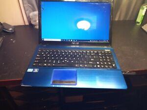 "ASUS X53E 15.6"" Laptop - Intel Core i3 2310m, Win 10, 6GB RAM, 500GB HDD- Blue"