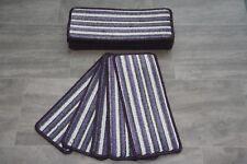13 Carpet Stair Case Treads Green Stripe Vegas Purple Stripe 13 Large Stair Pads