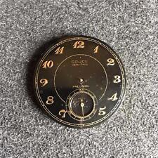 VINTAGE 39MM GRUEN VERI-THIN OPENFACE POCKETWATCH MOVEMENT 17 JEWELS GRADE 385