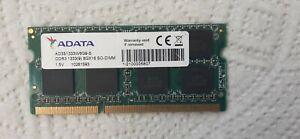 RAM  ADATA 8GX16 DDR3 1333(9) SO-DIMM pour PC portable