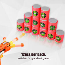 12pcs Dart Foam Gun Shoot EVA Soft Bullet Target Kids Toy For NERF N-Strike New!