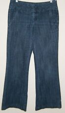 Maurices Jeans Dark Wash Denim Womens 7/8 Short Wide Leg