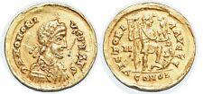 HONORIUS Solidus  VICTORIA AVGGG +395 MILAN C.44