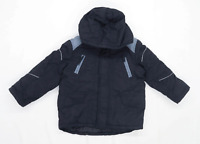 Marks & Spencer Boys Striped Black Coat Age 5-6 Years